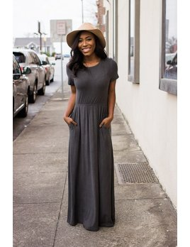 Cut Out Accent Jersey Maxi Dress