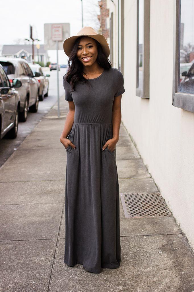 Cut Out Accent Jersey Maxi Dress