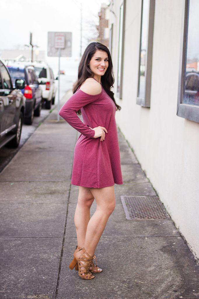 Z Supply The Long Sleeve Cold Shoulder Dress