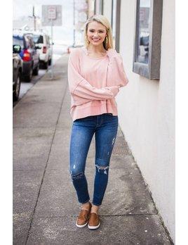 Karlie Solid Cross Back Sweatshirt