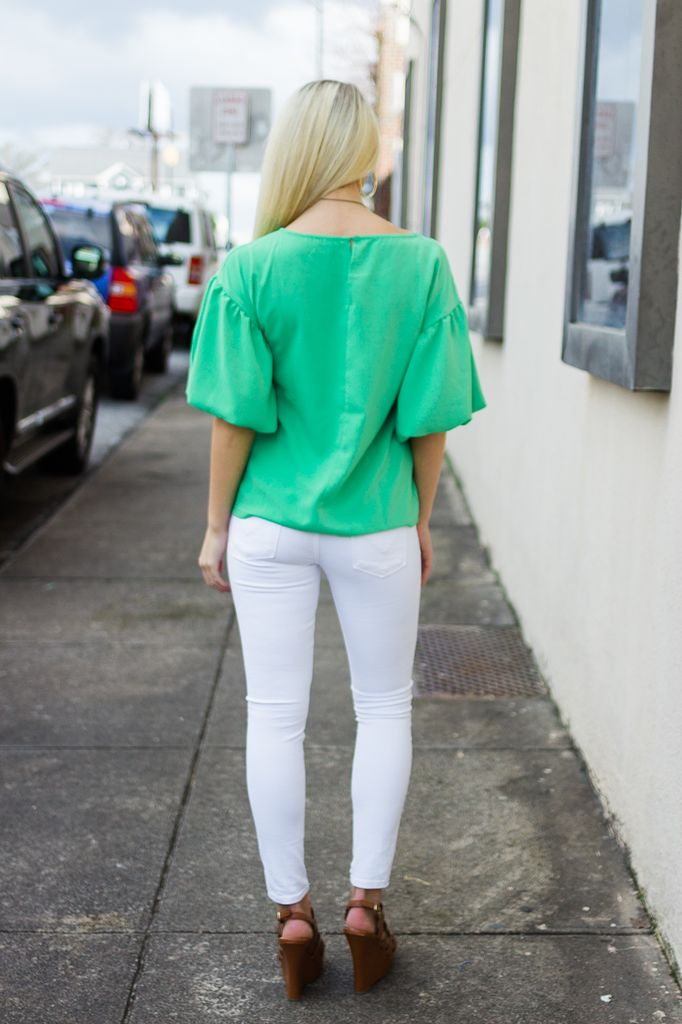 TCEC Ruffle Sleeve Relaxed Fit Blouse