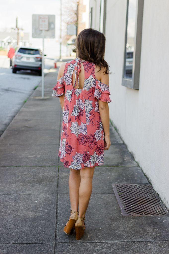 Jolene Floral Cold Shoulder Dress