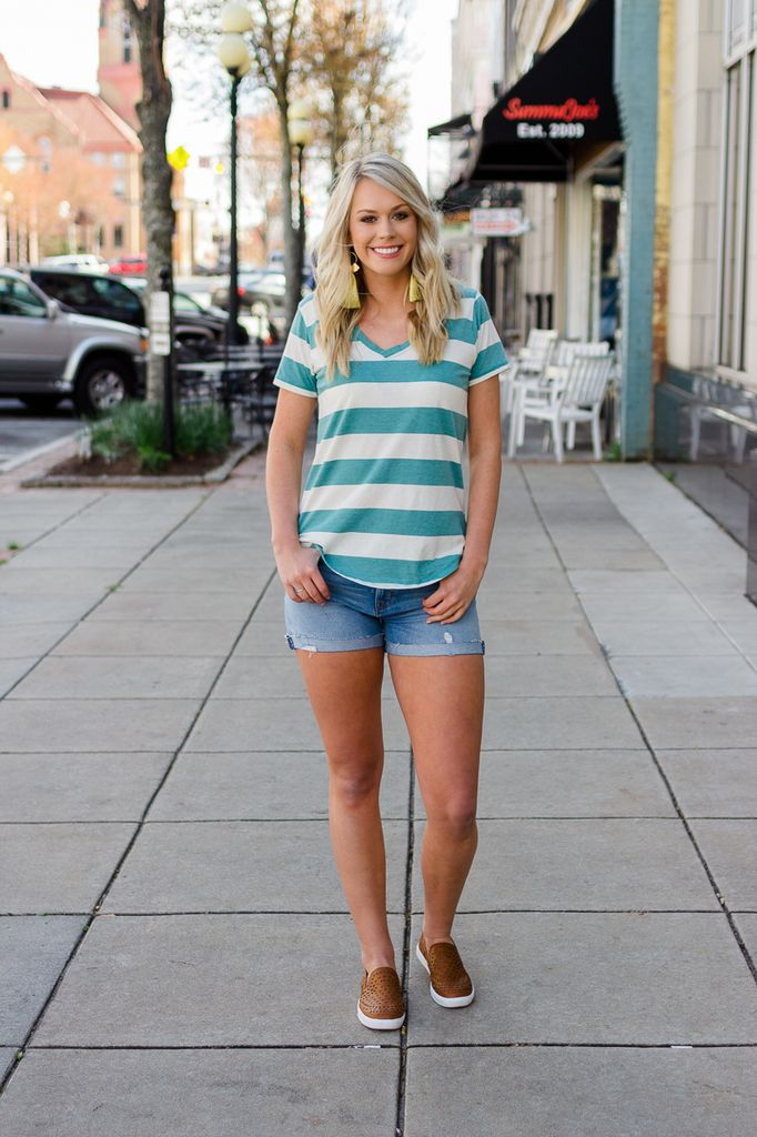 Z Supply The Naples Striped Tee