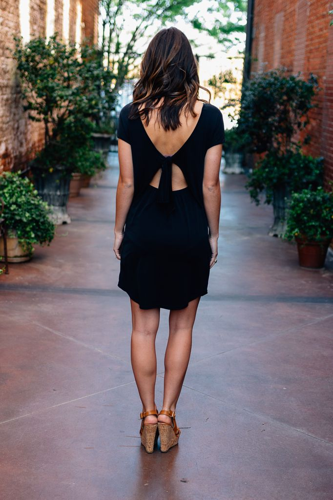 Soraya Open Back T-Shirt Dress
