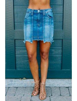 Hudson Weekender Step Hem Skirt in Frenzy