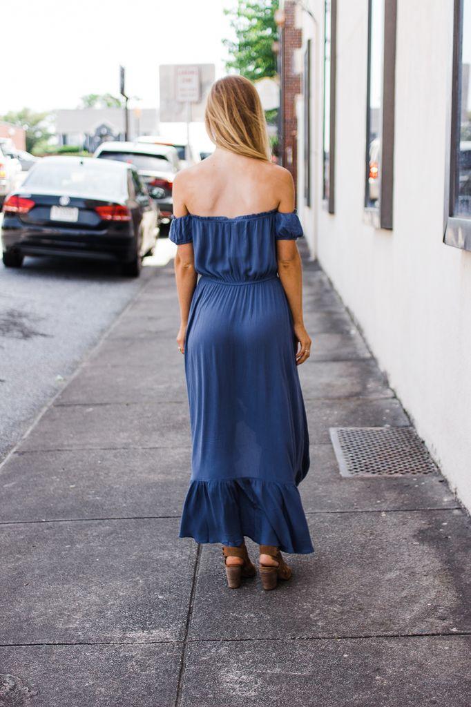 Natalia Off The Shoulder High Low Dress