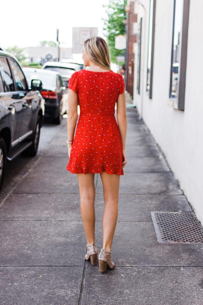 Evelyn Floral Print Dress