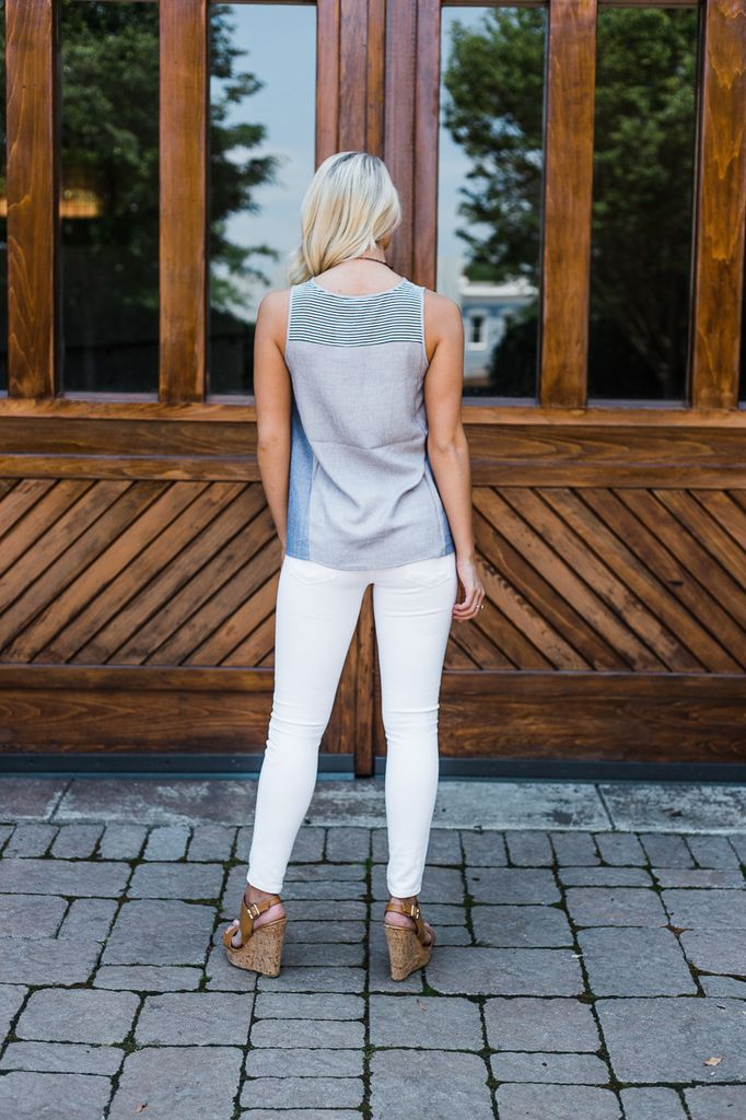 THML Sleeveless Flared Top