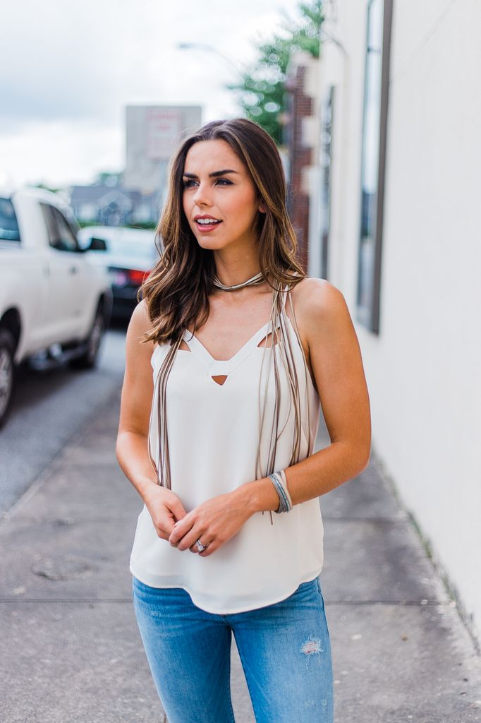Suede Lariat Necklace