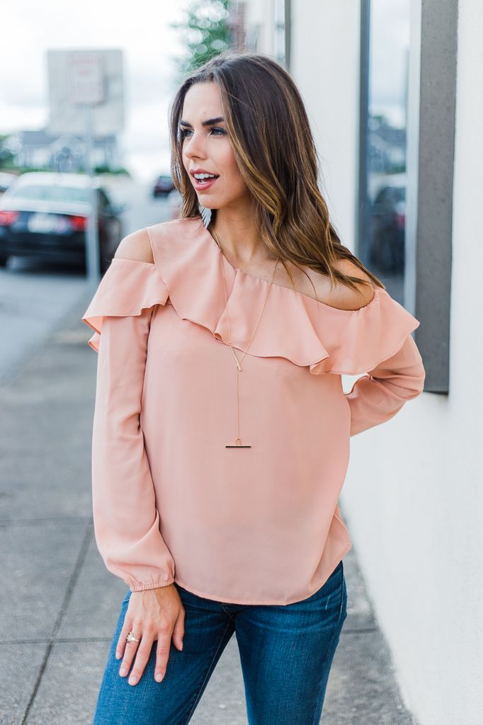 By Together Ruffled Off Shoulder Top