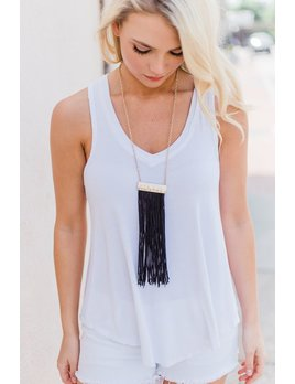 Thread Fringe Necklace