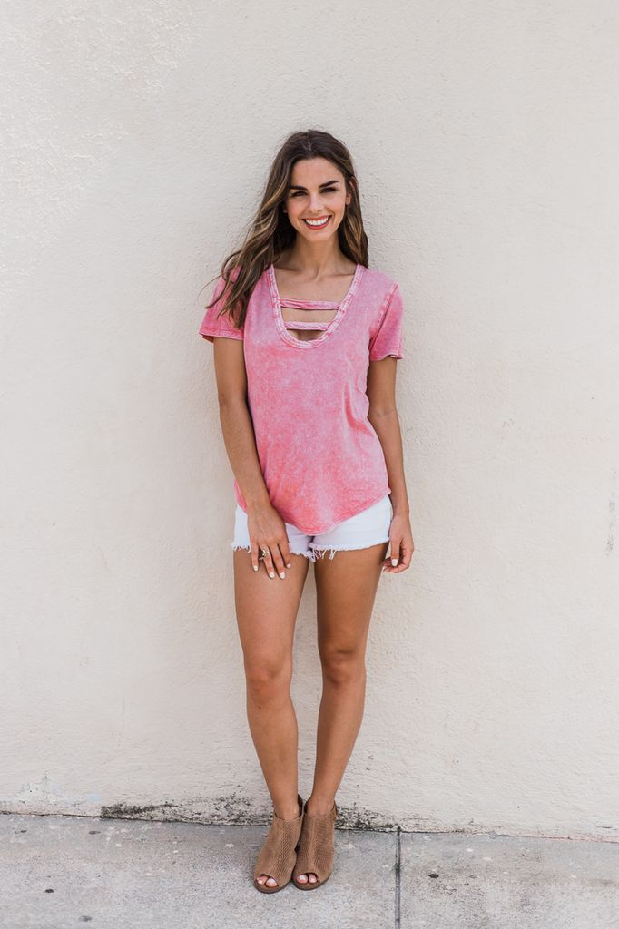 Z Supply The Washed Cotton Strappy Tee