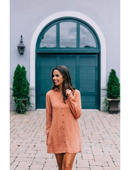 Costa Lace Up Shirt Dress