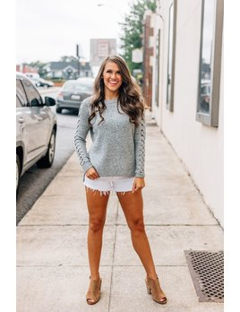 Gretchen Open Knit Sleeve Sweater