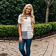 Striped Color Block Top with Knot Sleeves