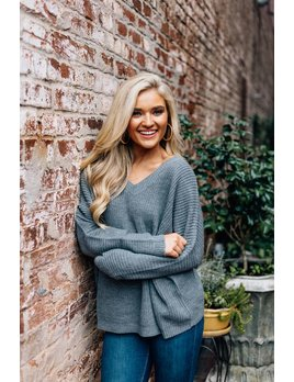 Low Back Solid Knit Sweater