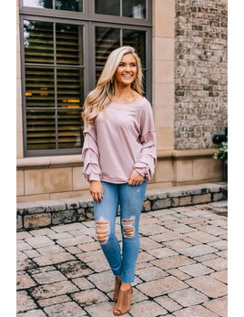 Pickup Sleeve Casual Top