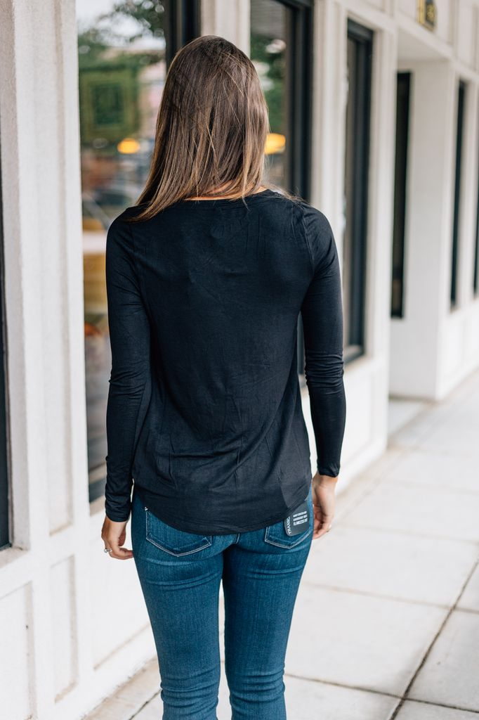 Z Supply The Twist Front Long Sleeve Tee