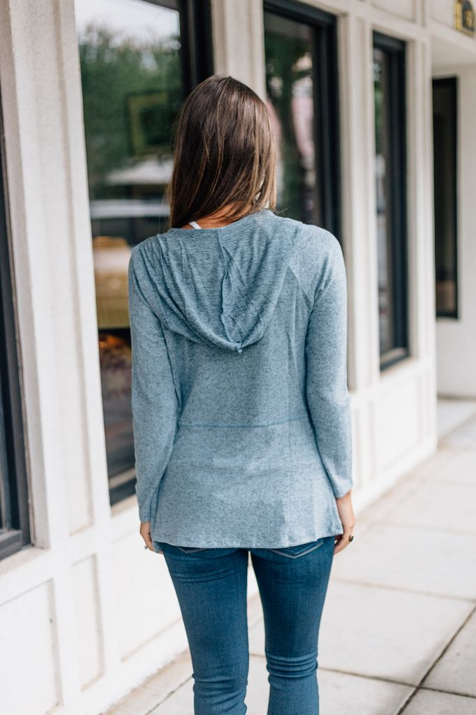 Z Supply The Marled Hooded Waterfall Cardigan