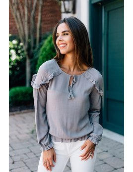 Carly Ruffle Shoulder Top