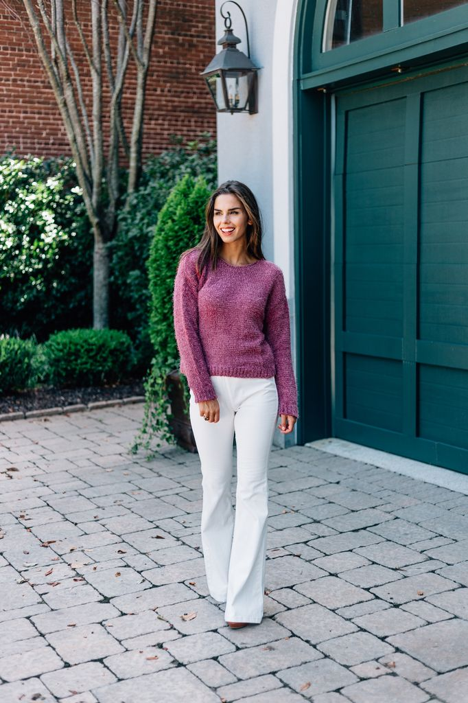 Ava Fuzzy Knit Sweater