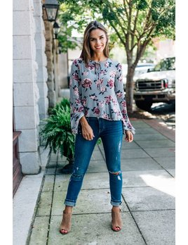 Jade Floral Blouse