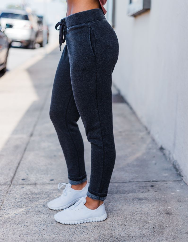 Z Supply The Lace Up Fleece Jogger Pant