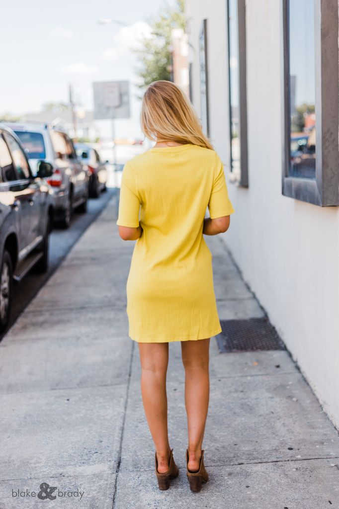 MinkPink Textured Tee Dress