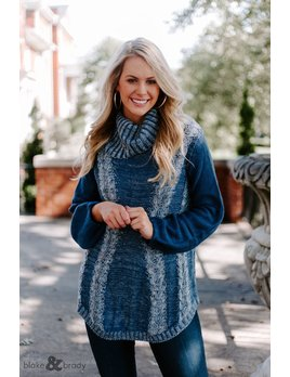Cable Knit Turtleneck Sweater