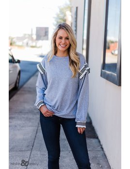 Very J Ruffle Shoulder Sweatshirt