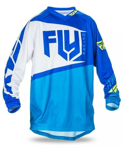 Fly Racing 2017 Fly Racing F-16 Blue/Hi-Vis Adult Jersery