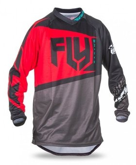 Fly Racing 2017 Fly Racing F-16 Red/Black/Grey Adult Jersey