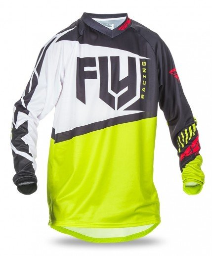 Fly Racing 2017 Fly Racing F-16 Black/Lime Youth Jersey