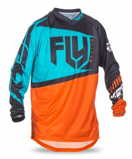 Fly Racing 2017 Fly Racing F-16 Orange/Teal Adult Jersey