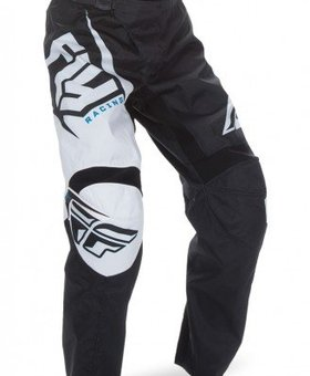Fly Racing 2017 Fly Racing F-16 Black/White Youth Pants