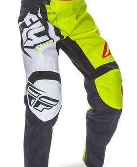 Fly Racing 2017 Fly Racing F-16 Black/Lime Youth Pants