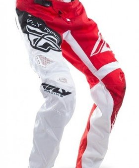 Fly Racing 2017 Fly Racing Kinetic Bicycle Crux Red/White Adult Pants