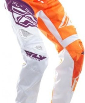 Fly Racing 2017 Fly Racing Kinetic Bicycle Crux Orange/Purple Youth Pants