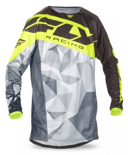 Fly Racing 2017 Fly Racing Kinetic Crux Black/Hi-Vis Adult Jersey