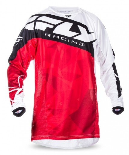 Fly Racing 2017 Fly Racing Kinetic Crux Red/White Adult Jersey