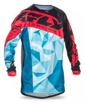 Fly Racing 2017 Fly Racing Kinetic Crux Dark Teal/Red Adult Jersey