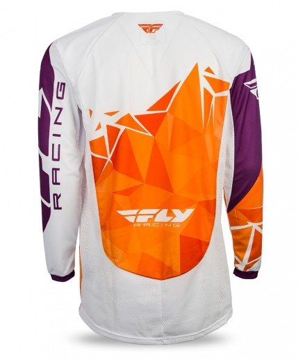 Fly Racing 2017 Fly Racing Kinetic Crux Orange/Purple Youth Jersey