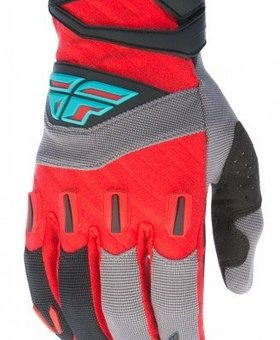 Fly Racing 2017 Fly Racing F-16 Red/Black/Grey Youth Gloves