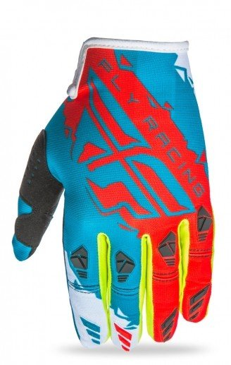 Fly Racing 2017 Fly Racing Kinetic Dark Teal/Red Adult Gloves