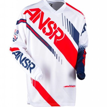 Answer Racing 2017 Answer Syncron White/Red Adult Jersey
