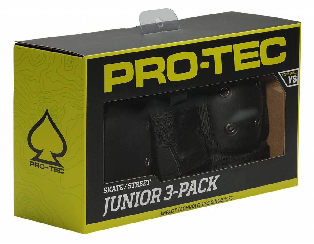 Pro-Tec Pro-Tec Youth Street Gear Junior, 3-Pack: Black SM