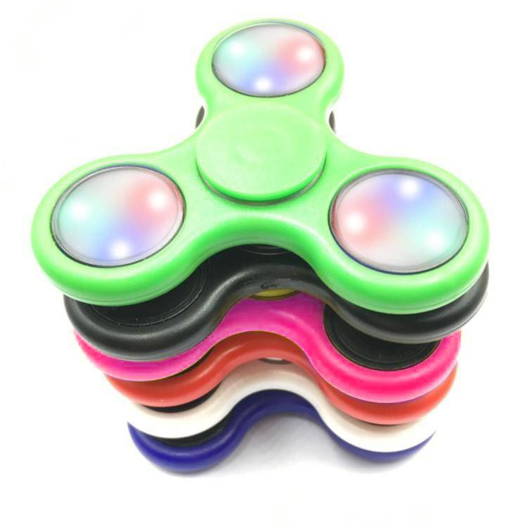 Fidget Fidget 3-Side LED Spinner Blue