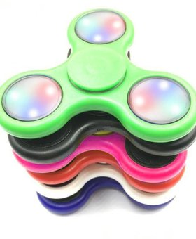 Fidget Fidget 3-Side LED Spinner Green