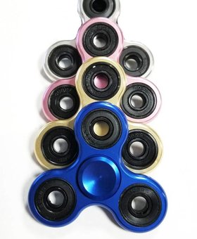 Fidget Fidget 3-Side Electromagntic Spinner Blue
