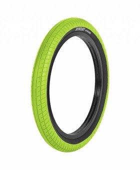 "Sunday 20x2.4"" Sunday Street Sweeper White/Blackwall Tire"